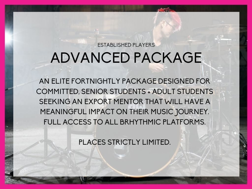 BRHYTHMIC ADVANCED PACKAGE for the experienced player, great for HSC students